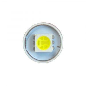 9MM - 12V - Super Brite LED Indicator Bulb - BA9S - White - Front - Part No 2002-2160-W