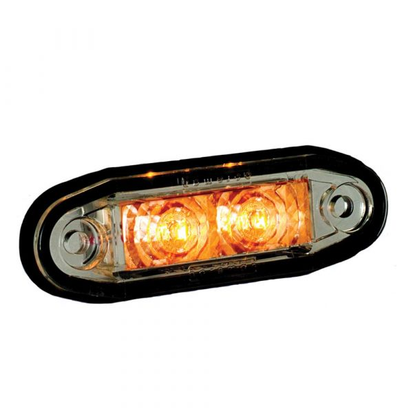 LED Cosmetic Marker Lamps - Amber - Part No 1001-3005-A
