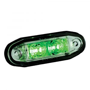 LED Cosmetic Marker Lamps - Green - Part No 1001-3005-G