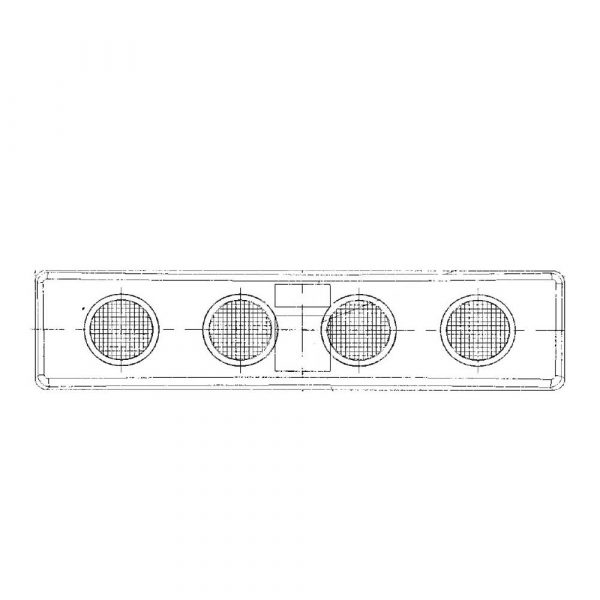 Scania 4 and R Series LED Visor Lamp - Product Spec - Part No 1001-3110