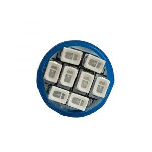Ultra Brite - 8 x LED Bulb - 24V - Blue - Front - Part No 2002-2115-B
