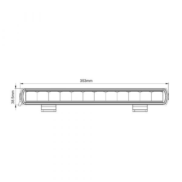 Ultra Slim Smoked Chrome Light-Bar - Product Spec - Part No 1001-6610-