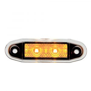 Easy Fit Flush Marker Fit Lamp - Amber - Part No 1001-4500-A