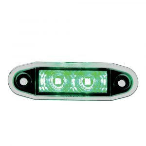 Easy Fit Flush Marker Fit Lamp - Green - Part No 1001-4500-G