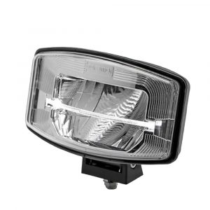 Full LED Driving Lamp with Light Bar - Smoked Chrome - Side View 2 - Part No 1001-1670