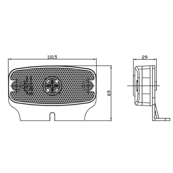 LED Marker Lamps - Product Spec - Part No 1001-0915