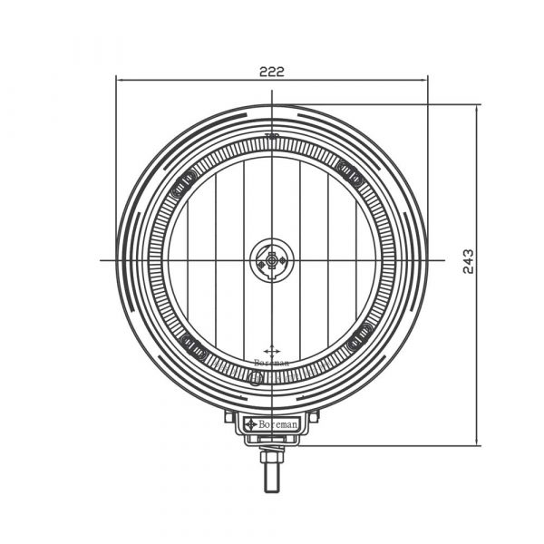 Optical Driving Lamp with LED Ring - Product Spec1 - Part No 1001-0990