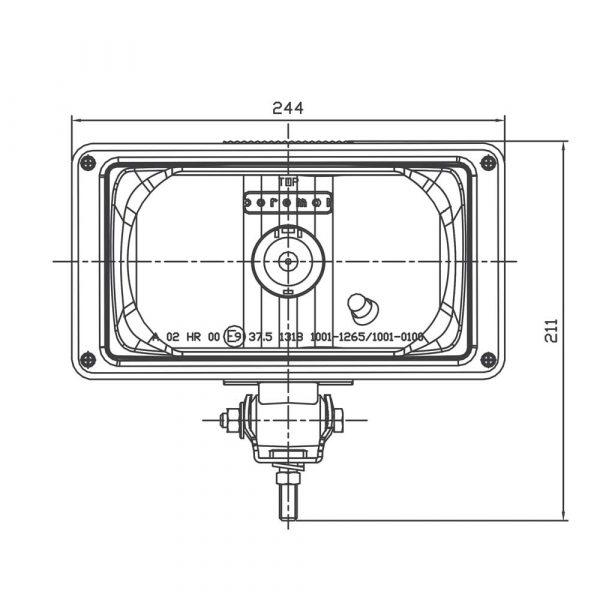 Rectangular Driving Light - Product Spec1 - Part No 1001-0100