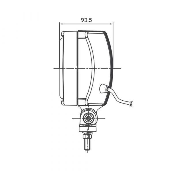 Rectangular Driving Light - Product Spec2 - Part No 1001-0100