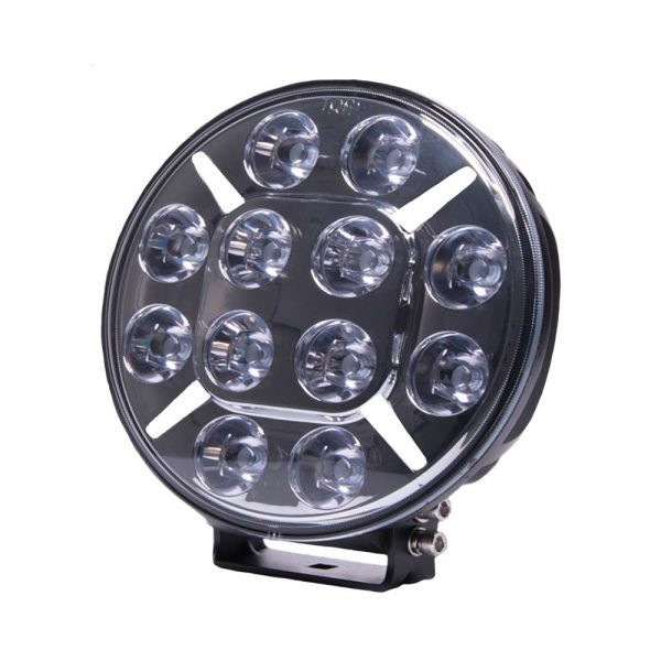 Round LED Spot Lamp with Amber or Clear Position Lamp - Front - Clear - Part No 1001-1620