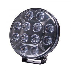 Round LED Spot Lamp with Amber or Clear Position Lamp - Front View - Part No 1001-1620