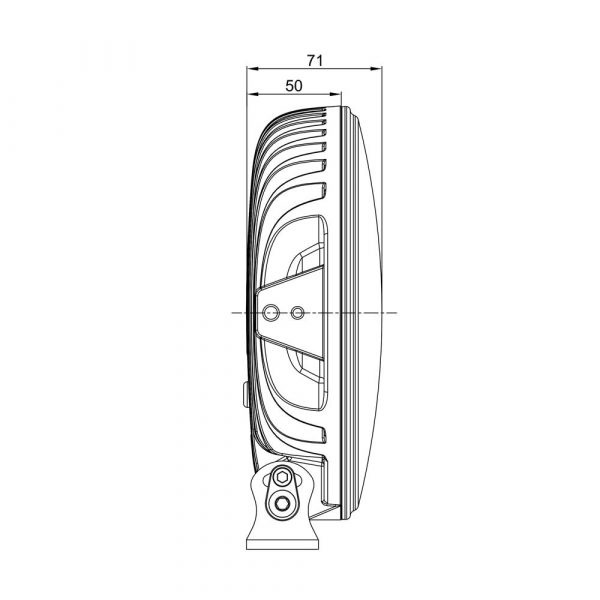 Round LED Spot Lamp with Amber or Clear Position Lamp - Product Spec2 - Part No 1001-1620
