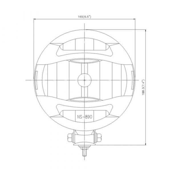 Stainless Steel Optical Driving Light - Product Spec1 - Part No 1001-0700