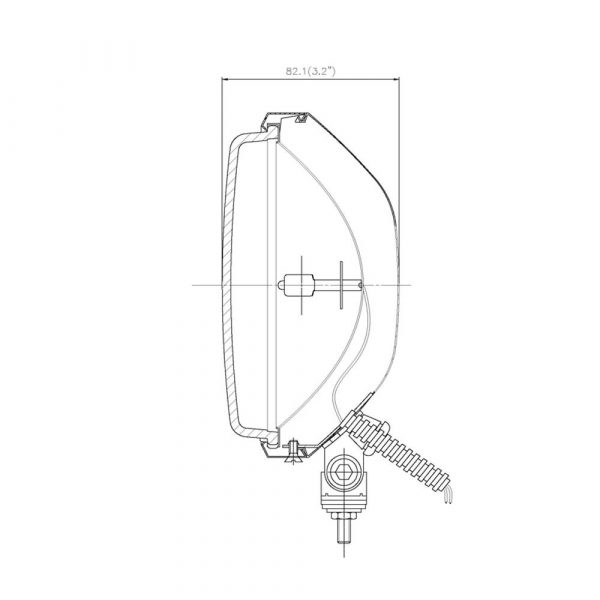 Stainless Steel Optical Driving Light - Product Spec2 - Part No 1001-0715