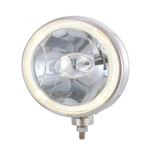 Stainless Steel Optical Driving Light with LED Ring - Clear - Part No 1001-0710-C